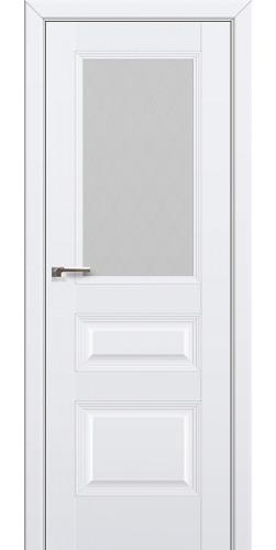 Дверь межкомнатная экошпон со стеклом 67U цвет аляска