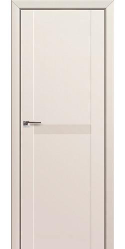 Дверь межкомнатная экошпон со стеклом 86U цвет магнолия сатинат
