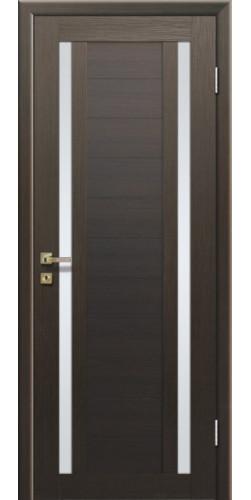 Дверь межкомнатная экошпон со стеклом 15Х цвет Венге мелинга