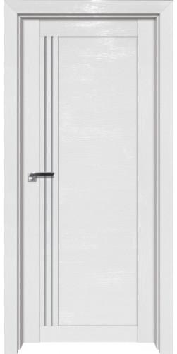 Дверь межкомнатная экошпон со стеклом 2.50STP цвет white glossy ex