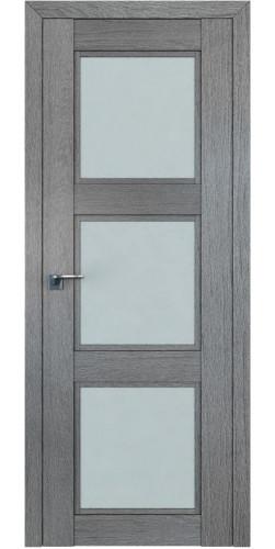 Дверь межкомнатная экошпон со стеклом 2.27XN цвет грувд серый