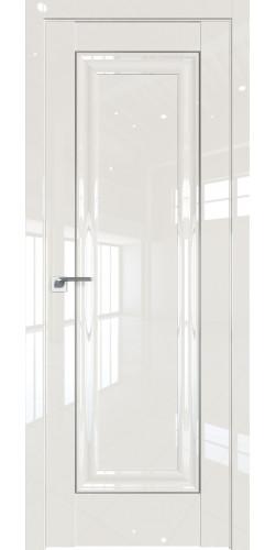 Дверь межкомнатная глянцевая 23L глухая цвет магнолия люкс