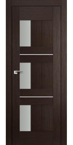 Дверь межкомнатная экошпон со стеклом 35Х цвет венге мелинга