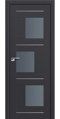 Дверь межкомнатная экошпон со стеклом 13U цвет антрацит