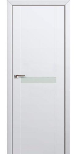 Дверь межкомнатная экошпон со стеклом 86U цвет аляска