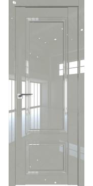 Дверь глянцевая 2.102L ДГ галька люкс