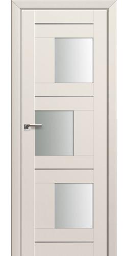 Дверь межкомнатная экошпон со стеклом 13U цвет магнолия сатинат
