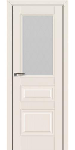 Дверь межкомнатная экошпон со стеклом 67U цвет магнолия сатинат