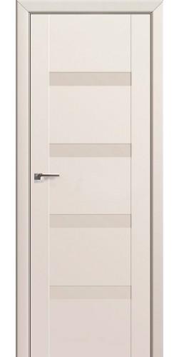 Дверь межкомнатная экошпон со стеклом 88U цвет магнолия сатинат