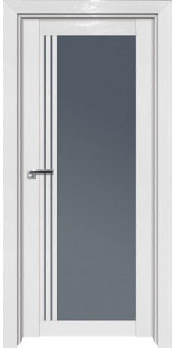 Дверь межкомнатная экошпон со стеклом 2.51STP цвет white glossy ex