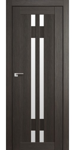 Дверь межкомнатная экошпон со стеклом 40Х цвет грей мелинга