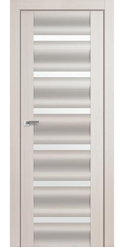 Дверь межкомнатная экошпон со стеклом 57Х цвет эш вайт мелинга