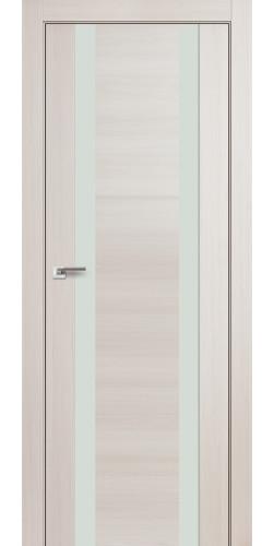 Дверь межкомнатная экошпон со стеклом 63Х цвет эш вайт мелинга
