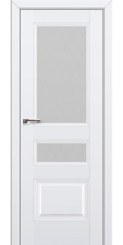 Дверь межкомнатная экошпон со стеклом 68U цвет аляска