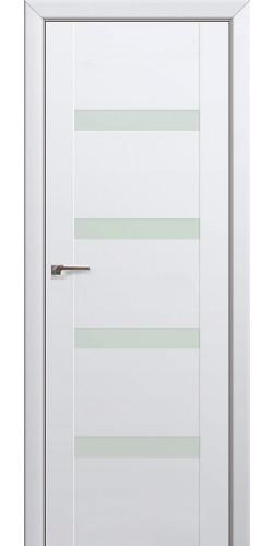 Дверь межкомнатная экошпон со стеклом 88U цвет аляска