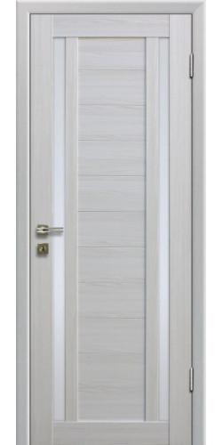Дверь межкомнатная экошпон со стеклом 15Х цвет Эшвайт мелинга