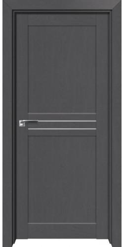 Дверь межкомнатная экошпон со стеклом 2.55XN цвет грувд