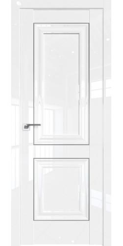 Дверь межкомнатная глянцевая 27L глухая цвет белый люкс