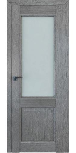 Дверь межкомнатная экошпон со стеклом 2.42XN цвет грувд серый