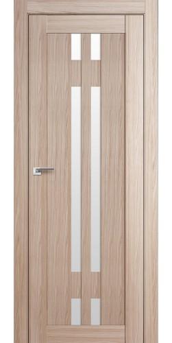 Дверь межкомнатная экошпон со стеклом 40Х цвет капучино мелинга