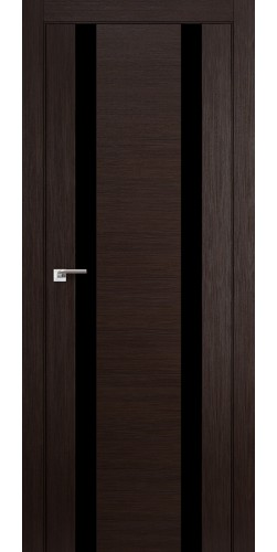 Дверь межкомнатная экошпон со стеклом 63Х цвет венге мелинга