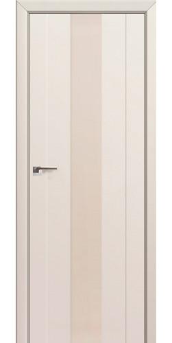 Дверь межкомнатная экошпон со стеклом 89U цвет магнолия сатинат