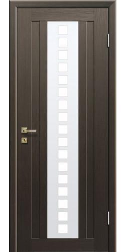 Дверь межкомнатная экошпон со стеклом 16Х цвет Венге мелинга