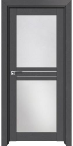 Дверь межкомнатная экошпон со стеклом 2.56XN цвет грувд