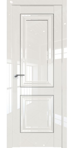 Дверь межкомнатная глянцевая 27L глухая цвет магнолия люкс