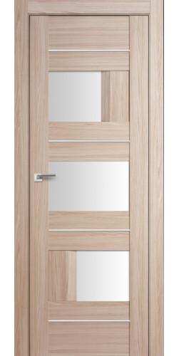 Дверь межкомнатная экошпон со стеклом 39Х цвет капучино мелинга
