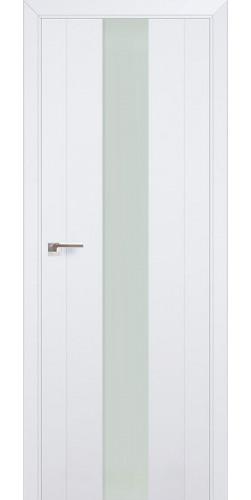 Дверь межкомнатная экошпон со стеклом 89U цвет аляска