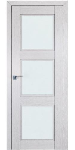 Дверь межкомнатная экошпон со стеклом 2.27XN цвет монблан