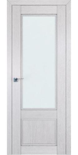 Дверь межкомнатная экошпон со стеклом 2.31XN цвет монблан