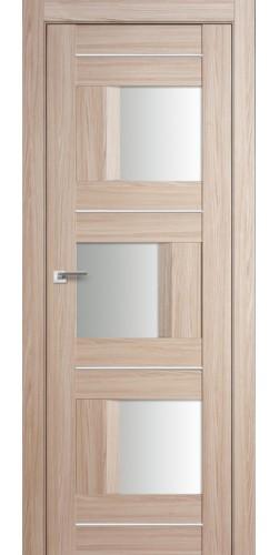 Дверь межкомнатная экошпон со стеклом 13Х цвет капучино мелинга