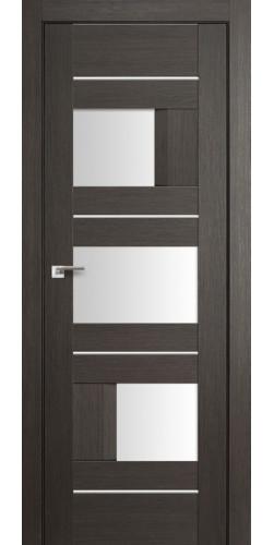 Дверь межкомнатная экошпон со стеклом 39Х цвет грей мелинга