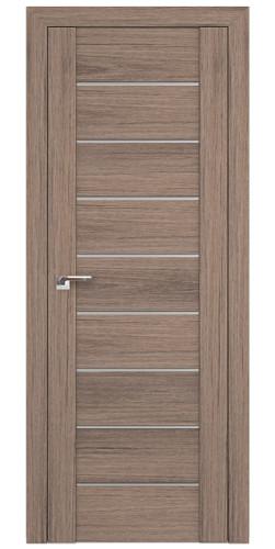 Дверь межкомнатная экошпон со стеклом 98XN цвет салинас темный
