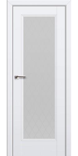 Дверь межкомнатная экошпон со стеклом 65U цвет аляска