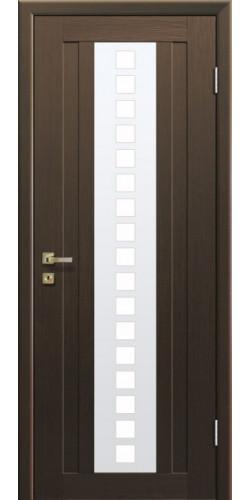 Дверь межкомнатная экошпон со стеклом 16Х цвет малага черри