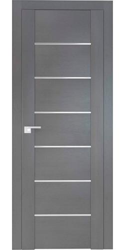 Дверь межкомнатная экошпон со стеклом 2.07XN цвет Грувд