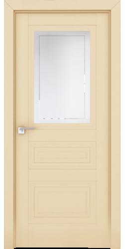 Дверь межкомнатная экошпон со стеклом 2.115U цвет Магнолия Сатинат