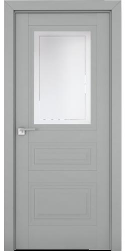 Межкомнатная дверь экошпон со стеклом 2.115 U Манхэттен