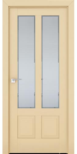 Дверь межкомнатная экошпон со стеклом 2.117U цвет Магнолия сатинат