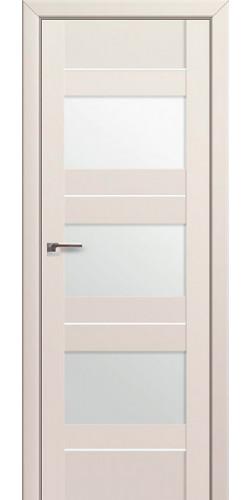 Дверь межкомнатная экошпон со стеклом 41U цвет Магнолия Сатинат