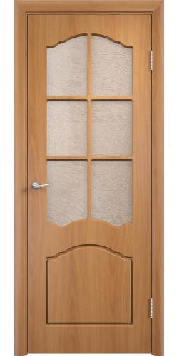 Дверь межкомнатная Лидия со стеклом цвет миланский орех