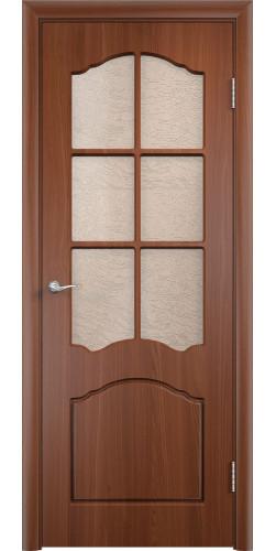 Дверь межкомнатная Лидия со стеклом цвет итальянский орех