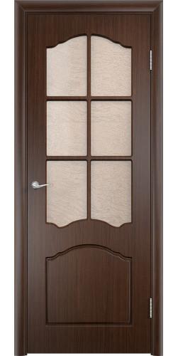 Дверь межкомнатная Лидия со стеклом цвет венге
