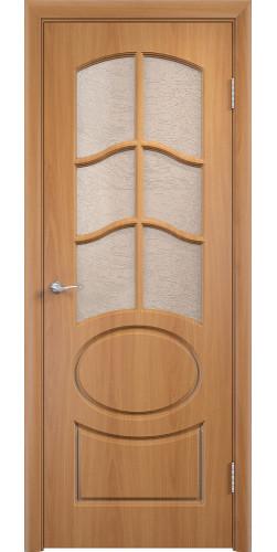 Дверь межкомнатная Неаполь со стеклом цвет миланский орех