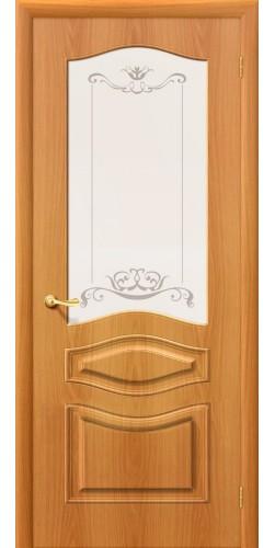 Межкомнатная дверь ПВХ со стеклом Модена миланский орех