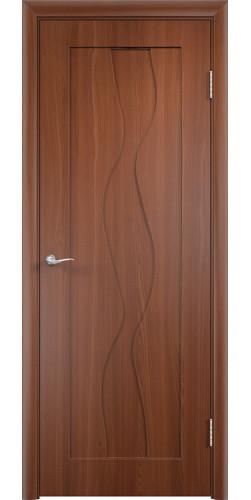 Дверь межкомнатная Вираж глухая цвет итальянский орех