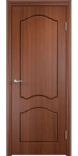 Межкомнатная дверь ПВХ Лидия ПГ итальянский орех